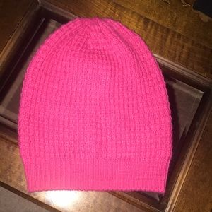 NWOT Pink Waffle Knit Slouchy Beanie